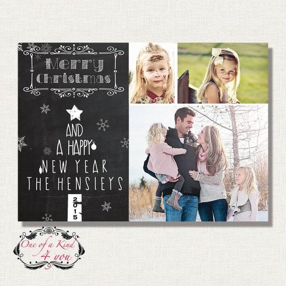 Plantilla de tarjeta de Navidad Photoshop digital para el