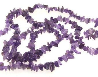 """Big Charm Nugget Amethyst Crystal Gemstone Beads One Strands 32"""""""