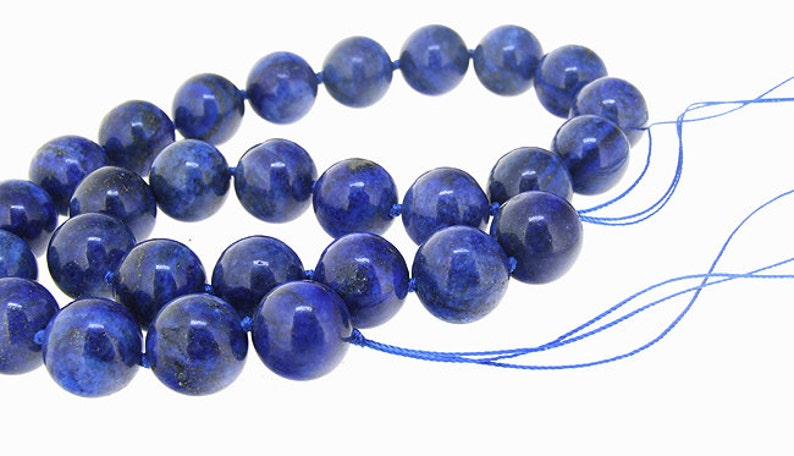 "S1966 20/"" 16mm blue round lapis lazuli bead necklace"