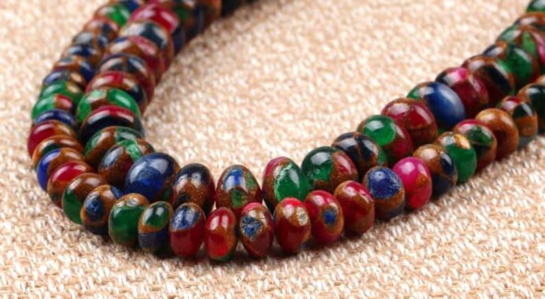"""16/"""" Strand MOSAIC QUARTZ 6mm Round Beads"""