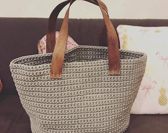 Crochet Bag Pattern (Utilitarian) Instant Digital Download