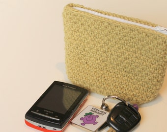 Knitted Pouch Pattern (Dotty Pouch) Instant Download