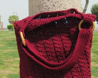Large Crochet Shoulder/ Across Body Bag (Reema Bag) Instant Digital Download