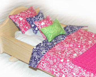 25A Bedding / Linens for 18 inch/American Girl Doll Beds