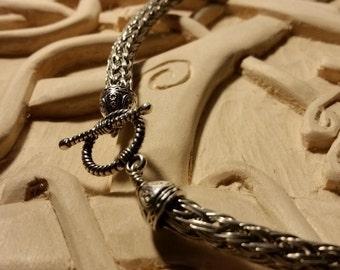 Triple-Wire Viking Knit Necklace
