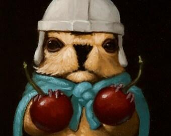 Cherry Pawn - Marmot Chess Limited Edition Print
