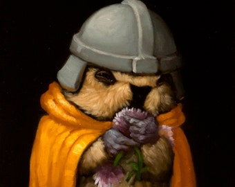 Flower Pawn - Marmot Chess Limited Edition Print