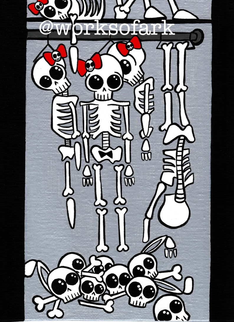 Skeletons In The Closet Print 5x7 Or 4x6