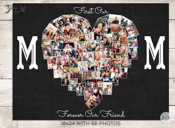 First My Mom Forever My Best Friend Gift Mom Photo Gift Mom Etsy