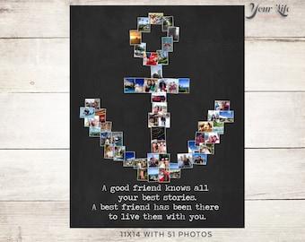 ANCHOR Photo Collage, NAUTICAL Print, Anchor Print, Nautical Theme Print, Anchor Best Friend, Vacation Photo Idea, Mother's Day Anchor