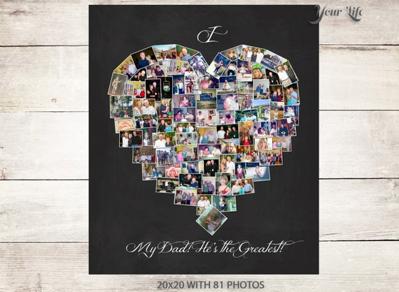 DAD Gift Personalized Photo Collage Dad Birthday Best