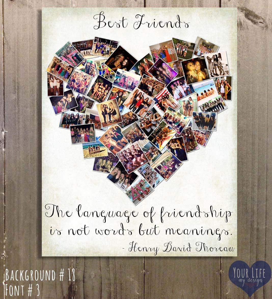 Geschenk für beste Freunde Foto-Collage Geschenk für | Etsy