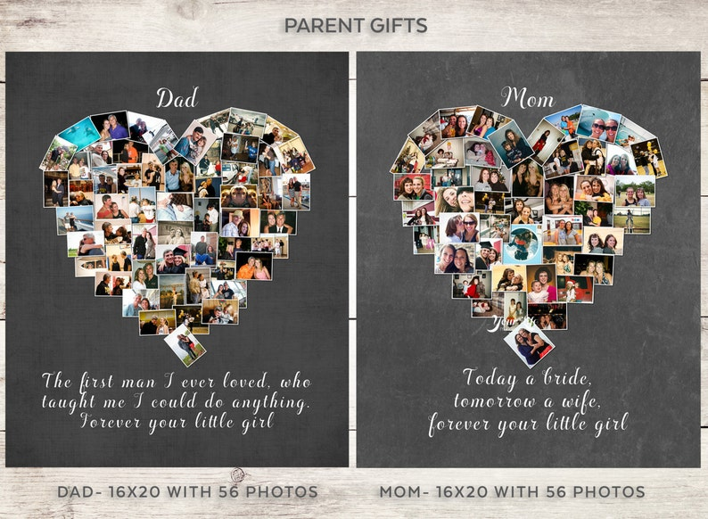 DAD Gift Parent's Personalized Photo Collage Dad image 0