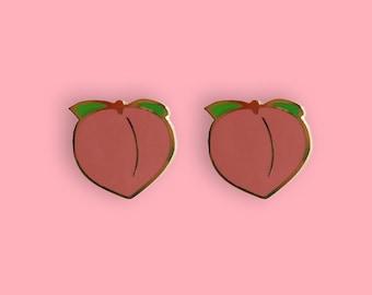 Peach Emoji 22k Gold Plated Earrings
