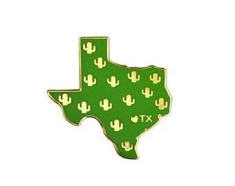 Texas Enamel Pin - Texas State Cactus Pin