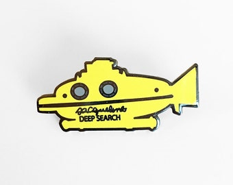 Deep Search Pin - The Life Aquatic With Steve Zissou - Jacqueline Wes Anderson Enamel Pin