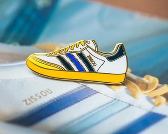 Zissou Adidas Enamel Pin - The Life Aquatic with Steve Zissou - Wes Anderson Pin - Illustrated Lapel Pin