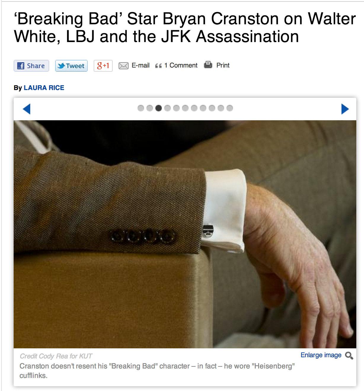 Heisenberg Cuff Links - Men's Breaking Bad Walter White Cufflinks