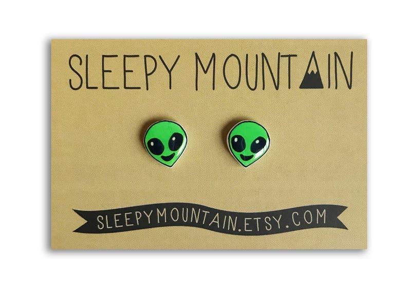 Alien Emoji Earrings