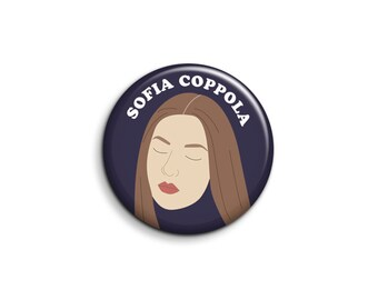 Sofia Coppola Pinback Button or Magnet