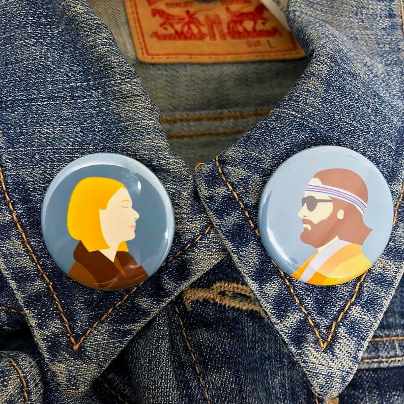 0b40f37b0d17 Margot and Richie Tenenbaum Badges Set of 2 Wes Anderson The