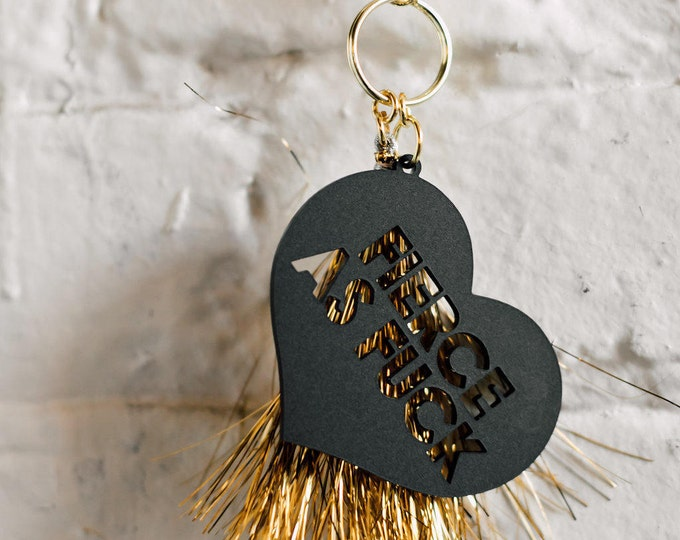 Fierce As Fuck Keychain, 1 CT with Gold Key Lobster Claw Clasps and Key Ring
