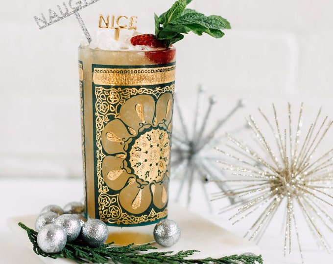 Naughty & Nice Stir Sticks 6 Ct., Drink Stirrers, Swizzle Sticks, Laser Cut, Acrylic