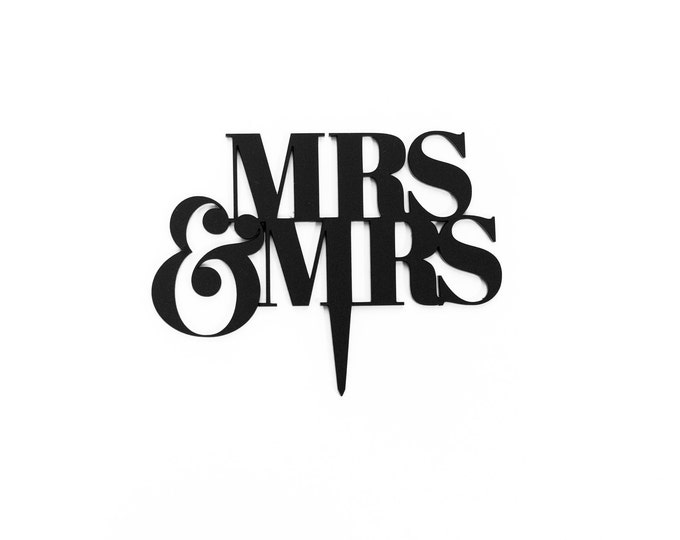 Mr and Mrs, Mr and Mr, Mrs and Mrs Cake Topper, 1 CT. Laser Cut Cake Topper, Weddings, Traditional Wedding