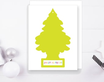 Jolly As F&CK Christmas Greeting Card, 1 Ct. Digital Print