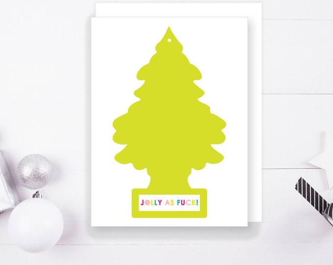 Jolly As F&CK Christmas Greeting Card, 1 Ct. Digital Print