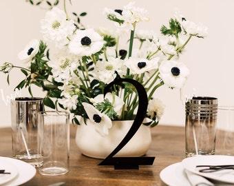 1 CT. Modern Sleek Table Numbers, Laser Cut, Weddings, Baby Shower, Bridal Shower, Birthday,