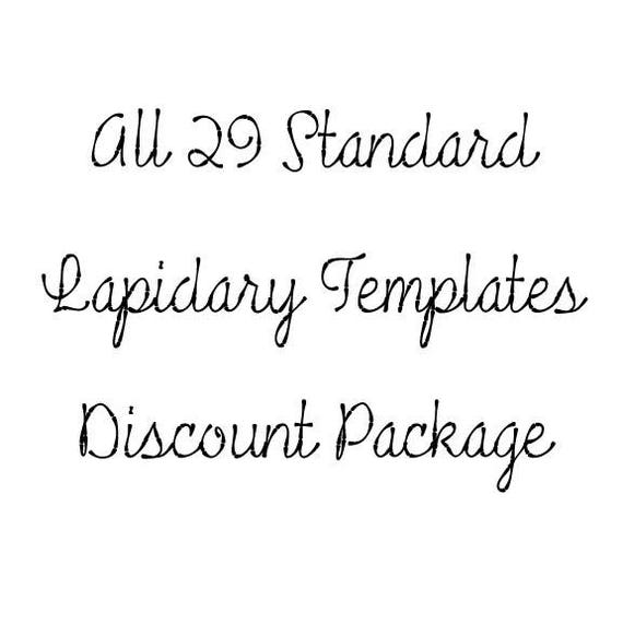 29 Standard Lapidary Templates at a Package Discount | Etsy