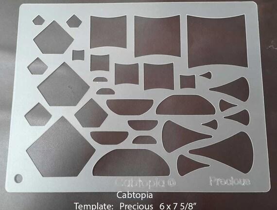 Cabtopia -- Lapidary Jewelry Design Template Stencil Hope Susan Broadway