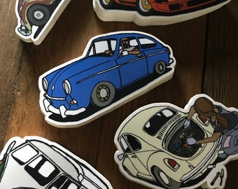 Vintage German Rides Sticker Pack