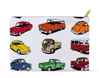 Vintage Cars Accessory Pouch