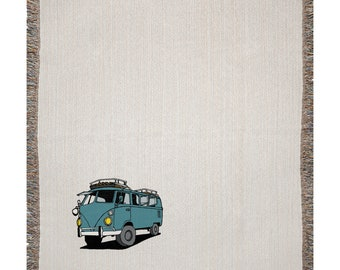 Vw Bus 4x4 Woven Blanket