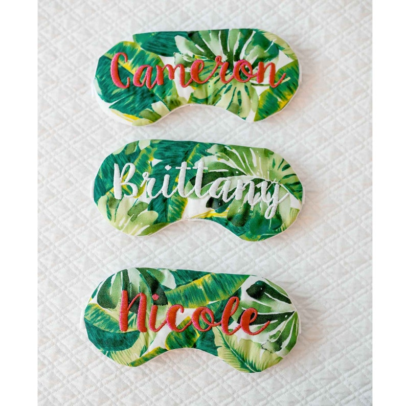 Personalized Palm Tree Sleep Eye Mask Palm Springs image 3