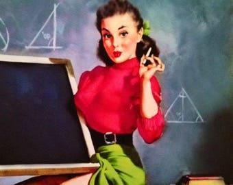 School Daze, Pin Up Girl Photo Collection, digital download, printable
