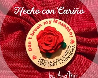 Pin - Handmade original Don't break my Mazapán  brooch by AngMir