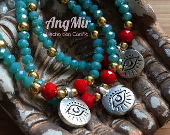 Crystal beaded protection bracelets