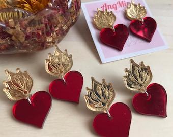 Sagrado Corazón stud earrings