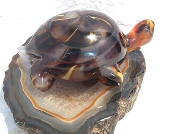 Turtle Paperweigh End Of Day Whimsical