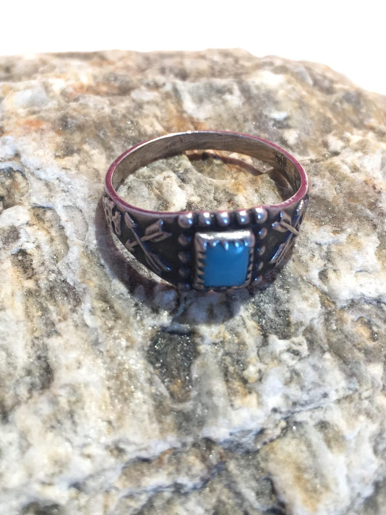 Southwest Sterling Silver and Turqouise Size 3 Ring
