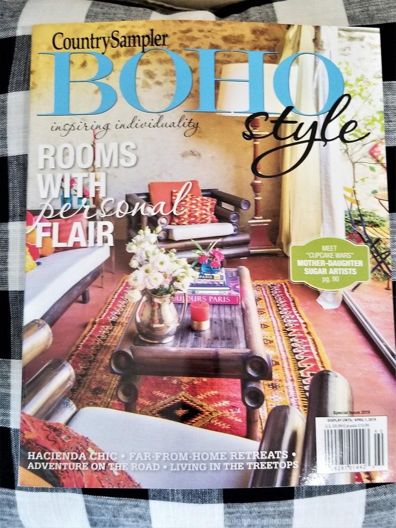 Boho Style home decor decorating magazine * Country Sampler April 2019