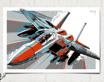 Airplane Art - F-15 Eagle - Airplane Print, Pop Art, Jet, Airplane Decor Art Print, Military Gift, Aviation, Airplane Nursery, Pilot gift