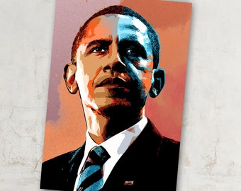 New Silk Young Obama Smoked Custom Poster Print Art Decor T-818
