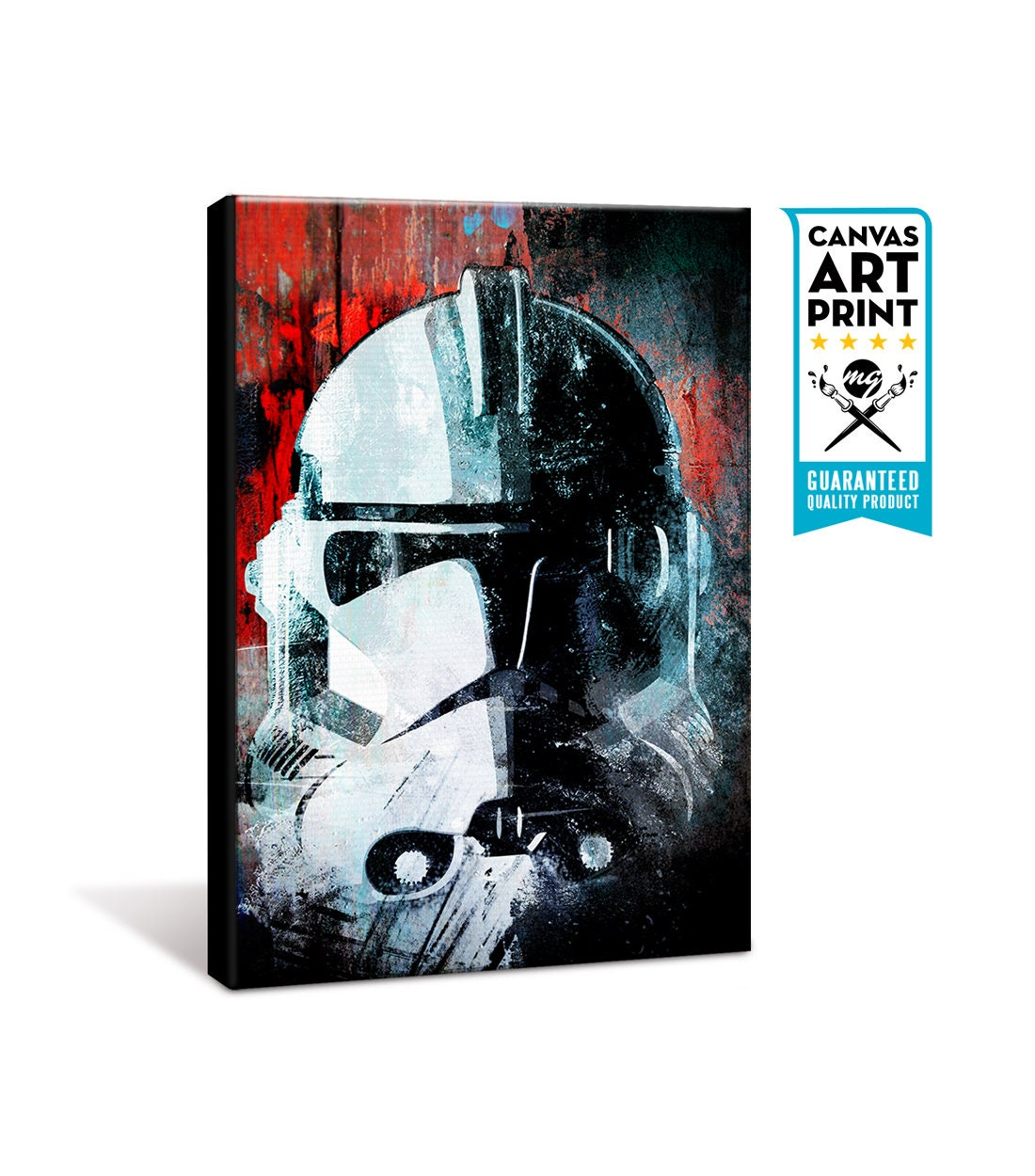 Clone trooper star wars canvas art star wars print star wars wall art star wars decor large canvas print canvas painting canvas gift