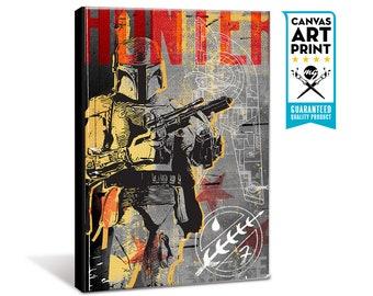 Star Wars Canvas - Boba Fett - Star Wars Patent Art, large Canvas Art Print, fan art, Star Wars gift, Star Wars canvas art, Pop Art