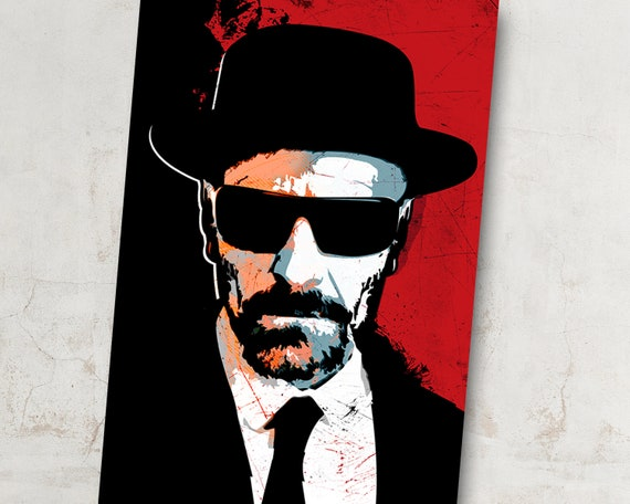 Breaking Bad Heisenberg Walter White Artwork Oil Painting Stretched Canvas Print