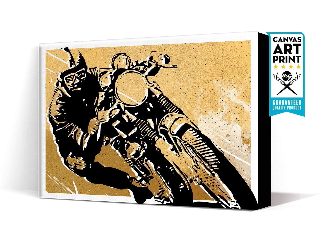 Motorcycle Art Cafe Racer Canvas Art Print Motorcycle | Etsy